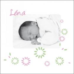 Faire part de naissance photo Léa