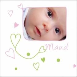 Faire part de naissance photo Maud