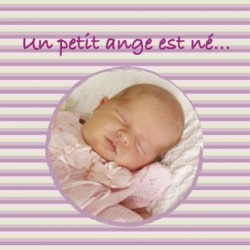 Faire part de naissance photo Rosa