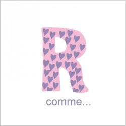 Faire part de naissance R comme Romane