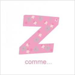 Faire part de naissance Z comme Zéline