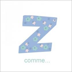 Faire part de naissance Z comme Zackari