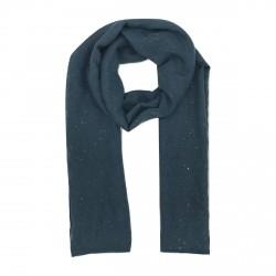 Foulard bleu gris pailleté