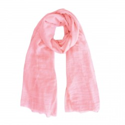 Foulard rose saumon