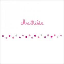 Frise étoiles roses Mathilde rouleau