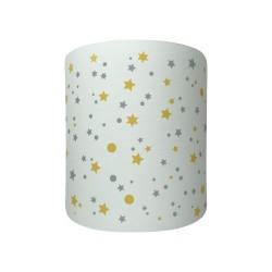 Applique lumineuse blanche étoiles de la galaxie jaunes et grises