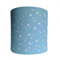 Applique étoiles de la galaxie bleu clair