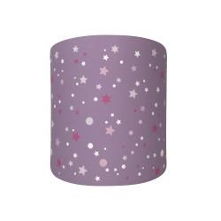 Applique lumineuse mauve étoiles de la galaxie roses