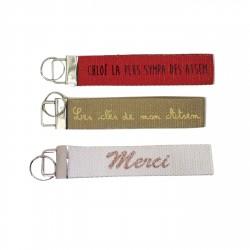 Porte clé ruban personnalisable Atsem
