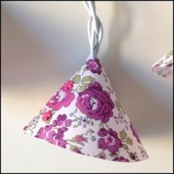 Guirlande lumineuse liberty fleurs violettes