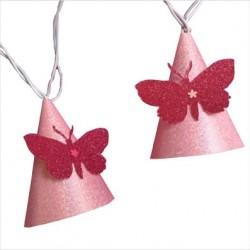 Guirlande lumineuse papillon rose vif