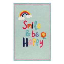Tapis enfant Happy me bleu ciel