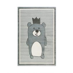 Tapis enfant ourson Henry bleu