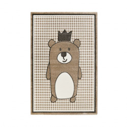 Tapis enfant ourson Henry marron