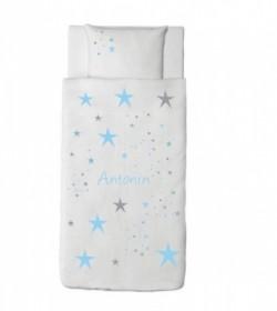 housse couette etoiles magiques bleu ciel lili pouce boutique d co chambre b b enfants et. Black Bedroom Furniture Sets. Home Design Ideas