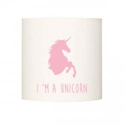 Applique lumineuse I'm a unicorn rose pale personnalisable