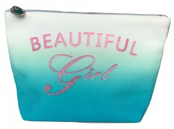 Trousse beautiful Girl personnalisable bleue