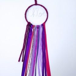 Attrape-rêves décoratif mural Liberty violet personnalisable