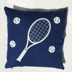 Coussin raquette de tennis personnalisable