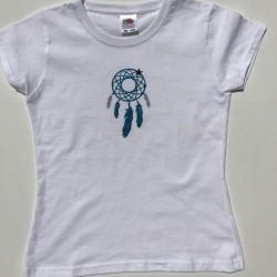 Tee-shirt attrape-rêves bleu turquoise personnalisable