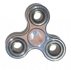 Hand spinner métallisé argenté