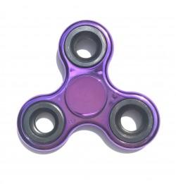 Hand spinner métallisé violet