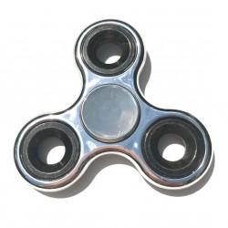 Hand spinner métallisé argenté et noir