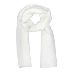 Foulard blanc pailleté
