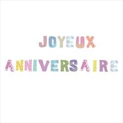 Stickers joyeux anniversaire patchwork
