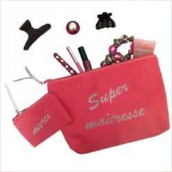 Kit cadeaux maîtresse beauté rose merci super maîtresse