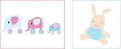 Kit deco bébé  ambiance jouets - Lapinou à 50%