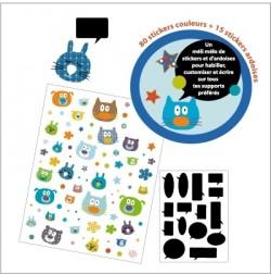 Kit stickers doudous