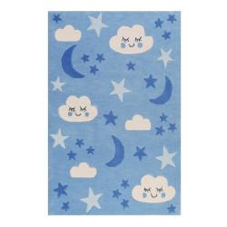 Tapis bébé nuit étoilée LaLeLu bleu
