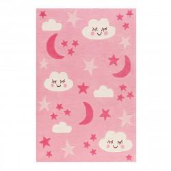 Tapis bébé nuit étoilée LaLeLu rose