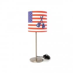 Lampe à poser drapeau américain et guitares