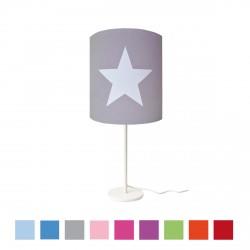 Lampe à poser étoile blanche fond couleur personnalisable