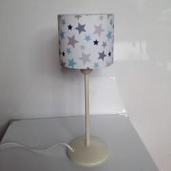 Lampe à poser étoiles bleue et grise