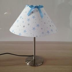 Lampe à poser étoiles magiques bleu ciel conique
