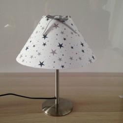 Lampe à poser étoiles magiques marine et gris conique