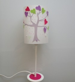 Lampe à poser arbre à coeurs