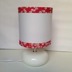 Lampe à poser fleurs mitsi rouge fushia