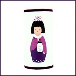 Lampe à poser Géante kokeshi au lampion personnalisable