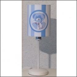 Lampe à poser ours bébé bleu personnalisable