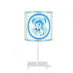 Lampe à poser ours bleu personnalisable