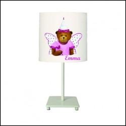 Lampe à poser ours fée papillon personnalisable
