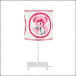 Lampe à poser ours rose personnalisable