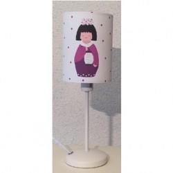 Lampe à poser petite kokeshi au lampion personnalisable