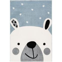 Tapis enfant ours Leonora bleu ciel