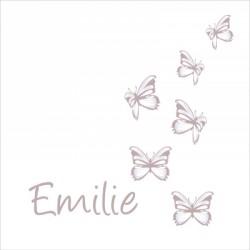 Les petits papillons craie et prénom personnalisé