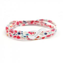 Bracelet Liberty cordon Infini - Argent
